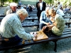 Schachspieler im Verman Garten