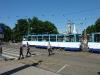 "Straßenbahn an der \""Laima-Clock\"""