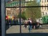 Spiegelbild in der Fassade des Bahnhofs