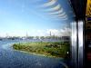 Blick aus dem Zug auf Riga