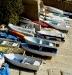 Boote im kleinen Hafen
