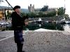 Schottisches Flair vor der Skaliger Burg