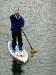 Einsamer Paddler auf dem See
