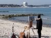 Maler am Strand