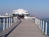 Seebrücke mit Teehaus