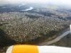 Anflug auf Vilnius