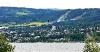 Lillehammer mit Blick auf die Sprungschanzen