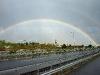 Ein toller Regenbogen unterwegs