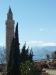 Minarett mit Blick auf Tahtali