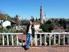 Blick auf Altstadt, Uhrturm, Minarett und Moschee