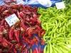 Chilischoten - grün und rot