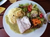 "Essen auf dem Restaurantschiff \""John Barnett\"""