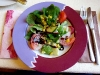 """Ein köstlicher Salat am Abend im Restaurant \""""LR6\""""."""
