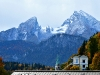 Blick von Berchtesgaden auf den Watzmann