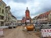 Rathaus, Vorderseite, Baustelle