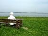Letzter Blick zurück auf die Elbe