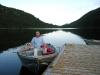 Bootsfahrt auf dem Hallamore Lake