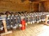 Hunderte Kuhglocken im Winter-Ruhestand