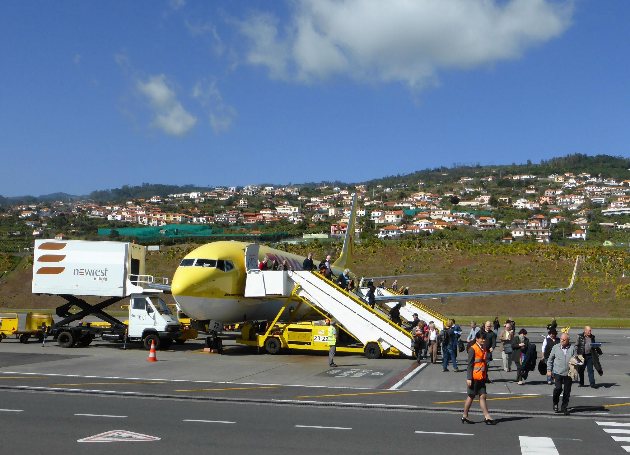 Ankunft Airport Funchal - Santa Caterina