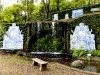 Kachelbild im Garten