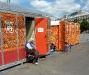 Toilettenhäuschen am Eingang zum Roten Platz