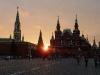 Untergehende Sonne am Roten Platz