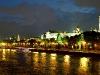 Moskwa und Kreml am Abend