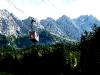 Wettersteingebirge mit Zugspitzseilbahn