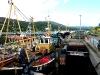 Schifferkähne im Hafen