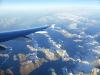 Heimflug über die Alpen ...