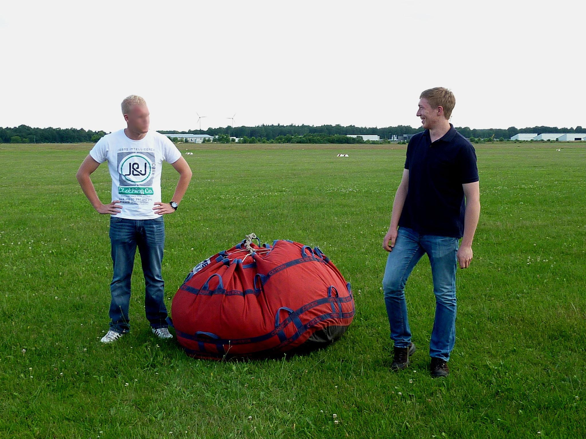 Darin befindet sich der Ballon