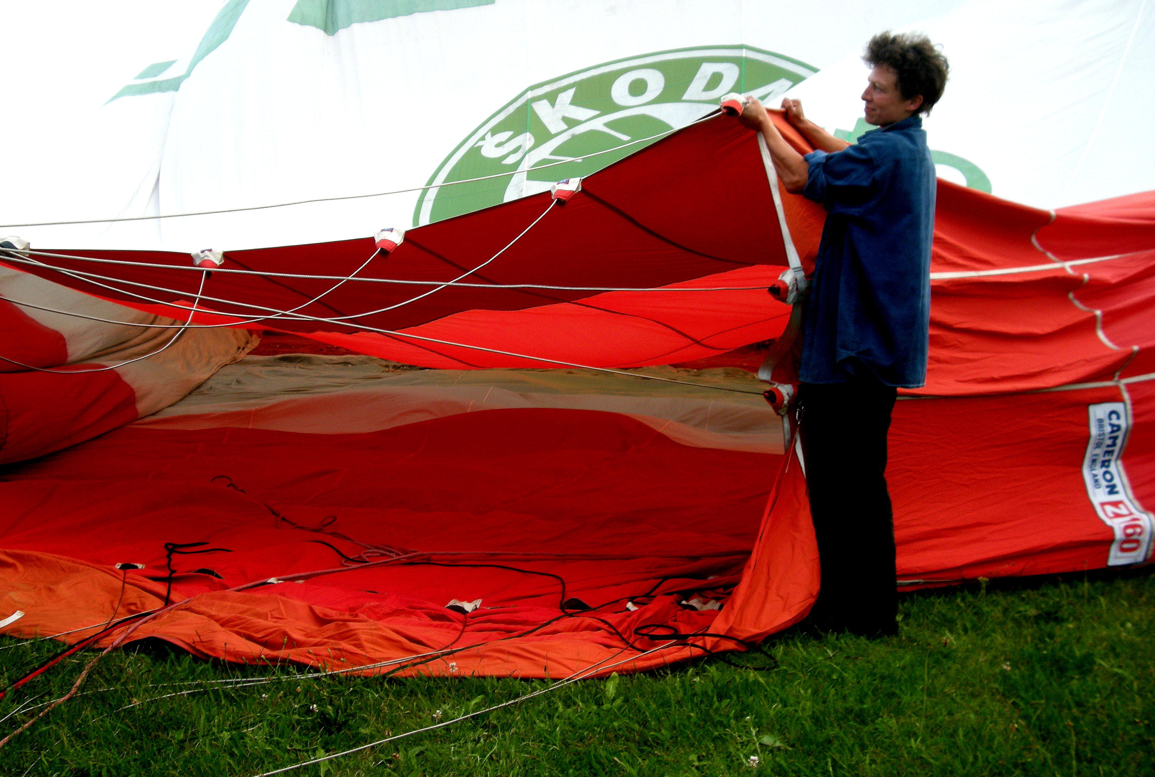 Anheben der Ballonöffnung