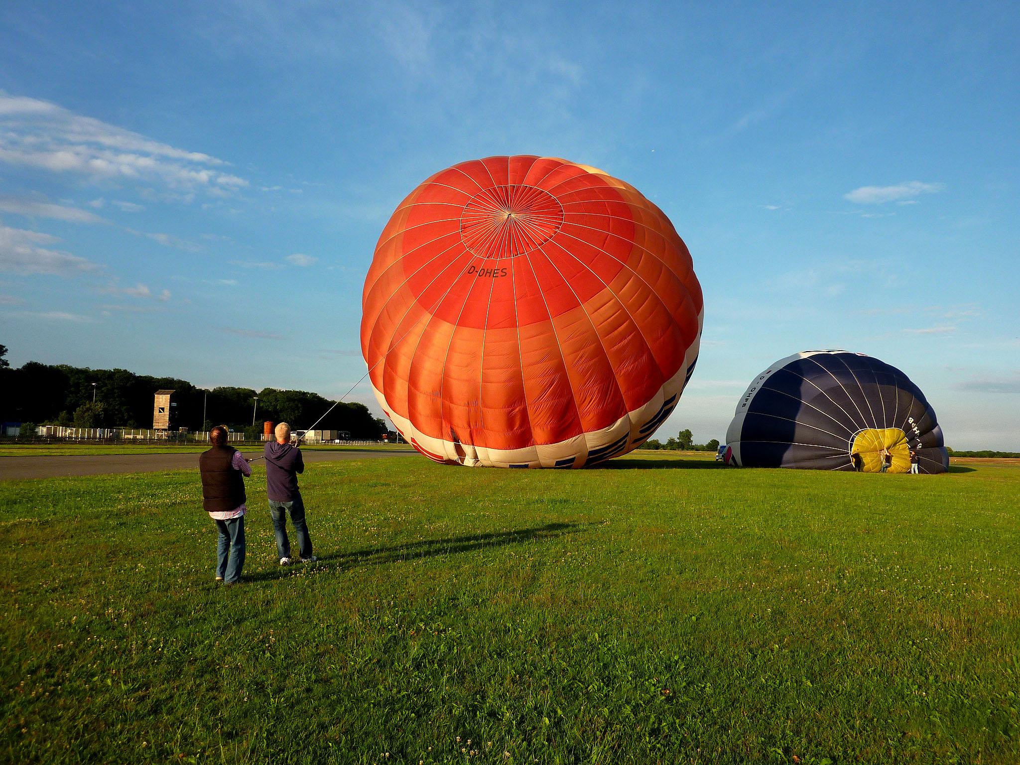 Der zweite Ballon bekommt Luft!
