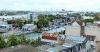 Hafen mit Pier 7 der Kreuzfahrtschiffe