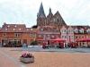 Marktplatz und Kirche in Barth