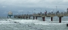 Stürmische See heute an der Seebrücke Zingst